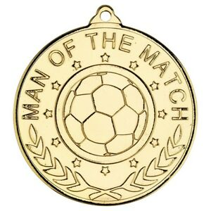 Football/Soccer Awards - Man of the Match Medals - Free Ribbon & Engraving