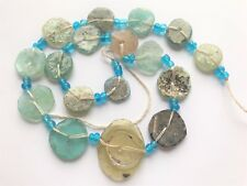 Genuine Roman Glass Fragment Beads with Extreme Patina1000-1500Yrs Old