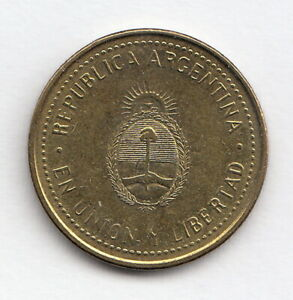 ARGENTINA 2011 10 cents - KM#107a- Escudo  - Brass pl steel  R.1055