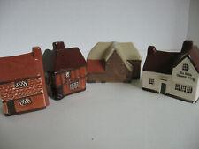 4 Vintage English Miniatures Houses Barn Pub Mullen End Studio