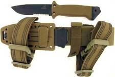 Gerber LMF II Survival Knife Serrated with Leg Straps Coyote Brown Made In USA