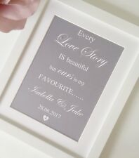 Wedding Gift Husband Wife Personalised Framed Print Husband To Be Gift
