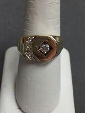 MEN'S 14k YELLOW GOLD .20ct DIAMOND RING