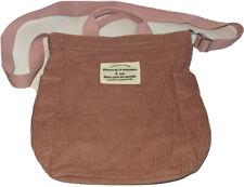La Maison De Ma Meie Pink Corduroy Crossbody Purse Bag Zipper Close Handles