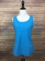 Danskin now womens active tank top Classic Neckline Stretch Solid Size 12/14, A6
