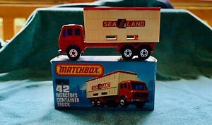 Lesney Matchbox Superfast # 42 Mercedes Container Truck NIB One Owner, 1976
