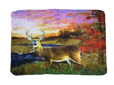 Forest Sunset Deer Hunting Buck Redneck Scene 50x60 Polar Fleece Blanket Throw
