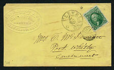 ADV COVER Embossed McDermott Grindstone Manufacturer Scott #68 Stamp to Canada