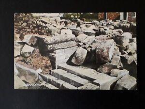 ISRAEL HISTORIC POSTCARD CAPERNAUM RUINS