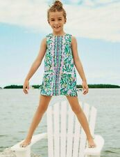 New Lilly Pulitzer LITTLE LILLY Shift Dress Lilac Verbena It's Impawsible 10 NWT