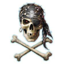 Aufkleber Pirat Totenkopf Aufkleber Pirate Skull Sticker Helm 8,5 x 6,5 Airbrush