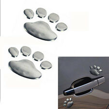 3D Bear Dog Animal Footprint Car Body Window Sticker Door Decal Decor Craft DIY