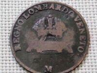 Italian States Lombardy - Venetia 1 Centesimo M Milan 1834 Franz II Habsburg