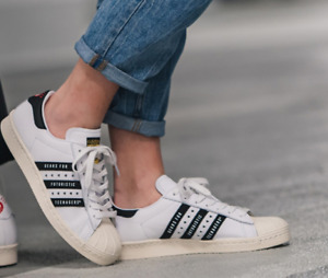 New Adidas Men's Trainers/ADIDAS SUPERSTAR80s HUMAN MADE/ white leather/£109.95