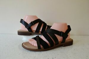 """NEW CLARKS """"DECLAN MIX"""" BLACK COMBI LEATHER CUSHIONED SANDALS UK 5.5D RRP £49.00"""