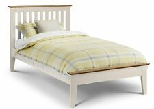 Salerno Shaker Bed  Ivory with Oak Trim 3ft Single 4ft 6 Double or 5ft Kingsize