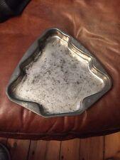 "Antique Vintage metal Christmas Tree Cookie Cake Tray pan Mold 10""x10"""