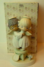 Precious Moments Angels We Have Heard on High Church Mouse 1991 524921
