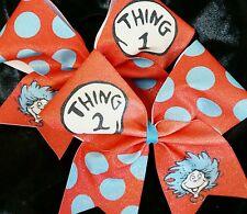 Cheer Bow ~ Thing 1 & Thing 2 Bows ~ Glitter - Hair Bows