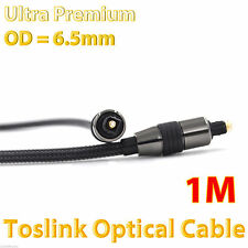 1m Premium Toslink Fibre S/PDIF Optical Cable 5.1 6.1 7.1 7.2 Digital Audio Lead