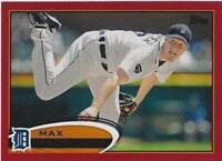 2012 Topps Target Red Border #162 Max Scherzer Detroit Tigers