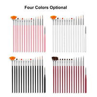 15pcs Nail Brush Kit Art Tips UV Gel Builder Brush for Art Design Painting Pen