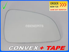 Wing Mirror Glass For Opel ASTRA H ECO 2009-10 CONVEX +TAPE Right Side /F032 395