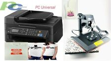 PC UNIVERSAL SUBLIMATION BUNDLE WITH PRINTER,HEAT PRESS For T-SHIRT,Canvas bags
