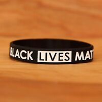 Debossed Silicone Awareness Wrist Band Bracelet 1 Black Lives Matter Wristband