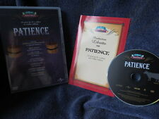 Patience : An Opera By Gilbert & Sullivan (DVD) with Production Libretto - 24/7