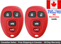 2x Red Replacement Keyless Remote Key Fob For Chevy Buick Pontiac - Shell Case