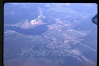 1969 kodachrome photo slide  Aerial view from airplane  Moscow Russia