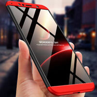For Huawei Y7 Y6 2018 360° Full Protective Hybrid Case + Tempered Glass Cover