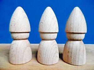 5  Round Tomten   Gnome peg dolls  7cm Beech hardwood  multi buy discount