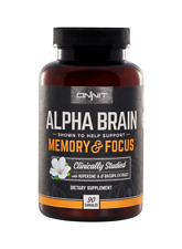 FRESHEST!!  NEW ONNIT Alpha Brain Memory & Focus 90ct Nootropic Huperzine Bacopa