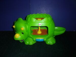 Kids Fisher Price Double Poppin Dino Baby Roller Spin Toy with Sounds and Music