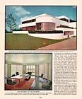 1935 4 PAGES MAGAZINE PHOTO PRINTS WASSERMAN HOME MANDEL BAR KITCHEN DESKEY