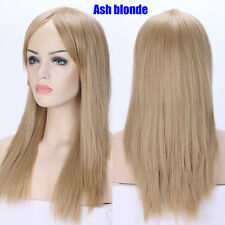 Thick Long Wig Ombre Rainbow Curly Straight Full Wigs Heat Resistant Daily Party