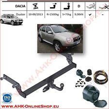 Gancio di traino fisso Dacia Duster 2010-2013 + kit elettrico 13-poli