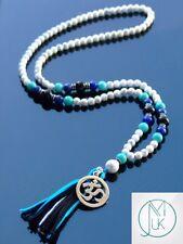 Howlite/Collar Mala Lapis piedras preciosas naturales Cuentas de Oración Curación mala 108