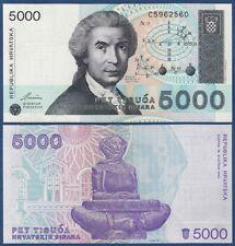 KROATIEN / CROATIA 5000 Dinara 1992  UNC  P.24