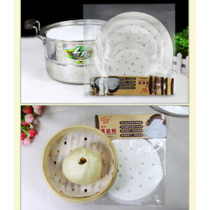 Mesh Disposable Steamer Paper Liner 100Pcs/Bag Pad Tools Cook Dumplings White BB