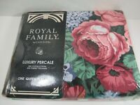 Vintage Rare New Sealed Cannon Royal Family Luxury Percale Victoria Queen Flat