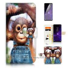 ( For Samsung S9 ) Wallet Case Cover P40503 Baby Monkey Gorilla
