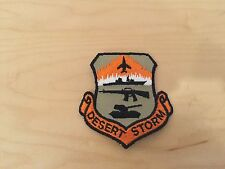 "desert storm patch,nos,3""x3"""",beige background"