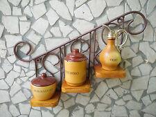 mensola rustica fioriera ferro battuto e legno bronzo teak cucina giardino
