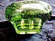 Green Hand Blown Art Glass