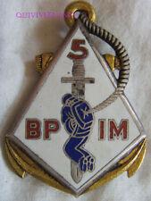 IN14402 - INSIGNE 5° Bataillon Para. d'Infanterie de Marine, guilloché, 2 pastil