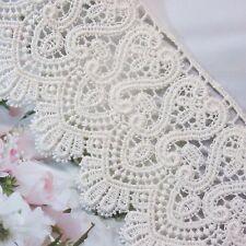 """Natural Guipure  Corchet Cotton Lace Trim 7cm (2.8"""") Ivory 1yd"""