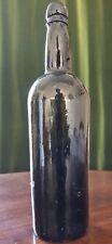 Cylindrical Black Glass Wine Bottle c.1820